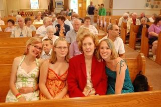 Alison's girls in Church